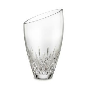 "Waterford Lismore Essence 9"" Angled Round Vase"